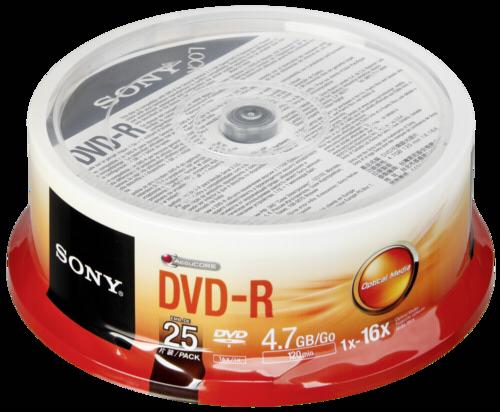 Sony DVD-R 4.7GB 16x speed 1x25