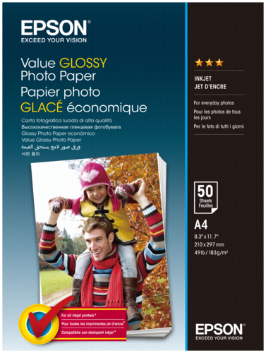 Epson Value Glossy Photo Paper A4 183g (50 sheets)