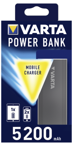 Varta Promotional Power Bank 5200mAh dark grey