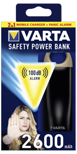 Varta Safety Power Bank 2600mAh with Sirene