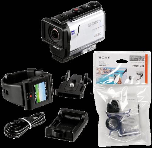 Sony FDR-X3000R Live-View Remote Kit + Finger Grip AKA-FGP1