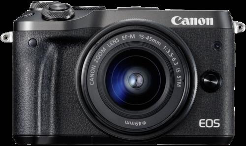 Canon EOS M6 black kit 15-45mm IS STM + 55-200mm IS STM