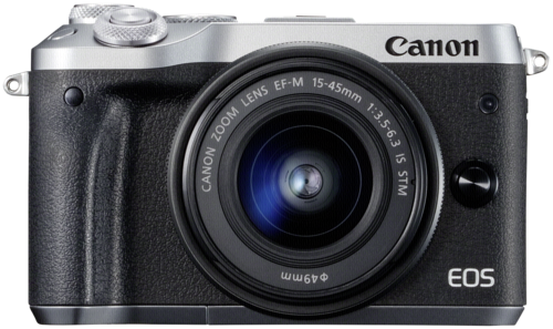 Canon EOS M6 silver kit 15-45mm IS STM + 55-200mm IS STM
