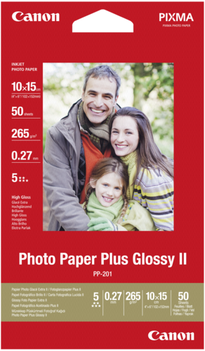Canon PP-201 Plus Glossy II 10x15cm 265gr (50 sheets)