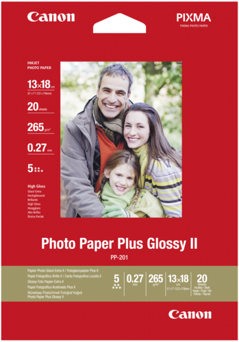 Canon PP-201 Plus Glossy II 13x18cm 265gr (20 sheets)