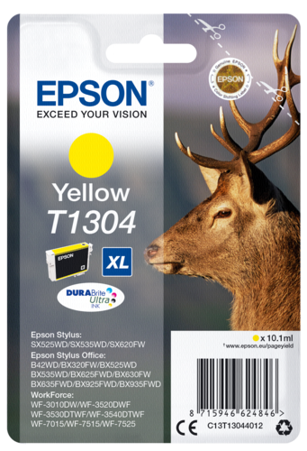 Epson Cartridge T1304 DURABrite Yellow