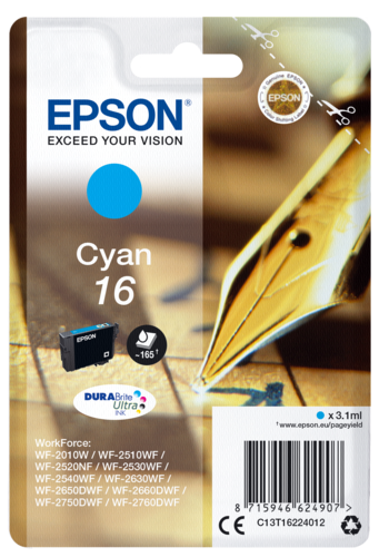 Epson Cartridge T1622 DURABrite Ultra Cyan