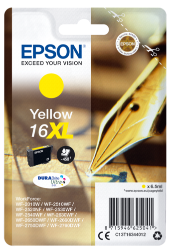 Epson Cartridge T1634 DURABrite Ultra Yellow XL