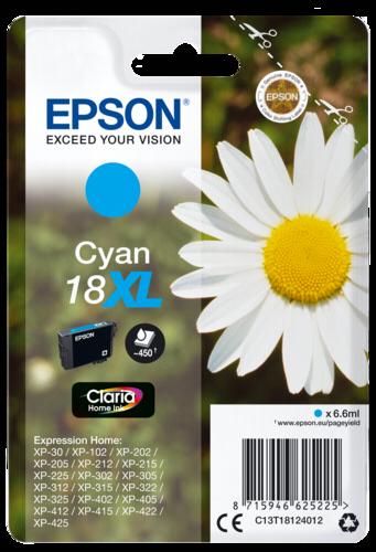 Epson Cartridge T1812 Claria Cyan XL