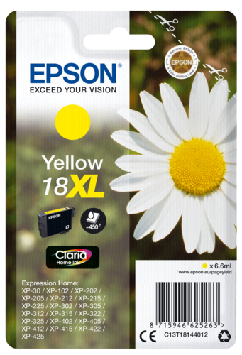 Epson Cartridge T1814 Claria Yellow XL