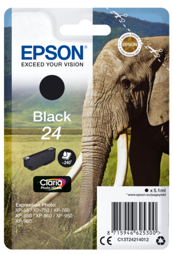 Epson Cartridge T2421 Claria Photo HD Black