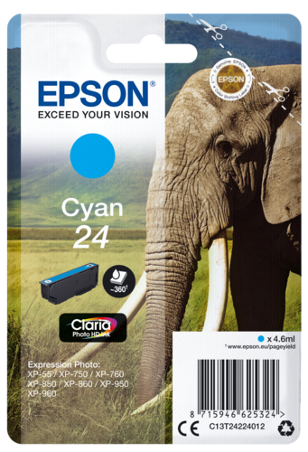 Epson Cartridge T2422 Claria Photo HD Cyan