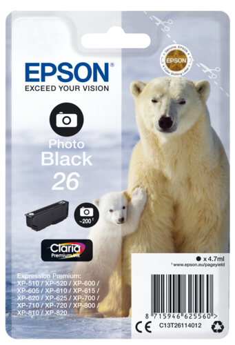 Epson Cartridge T2611 Claria Premium photo black