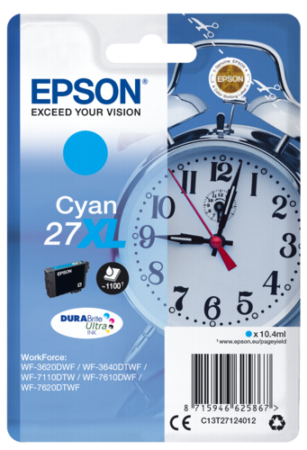 Epson Cartridge T2712 DURABrite Cyan XL