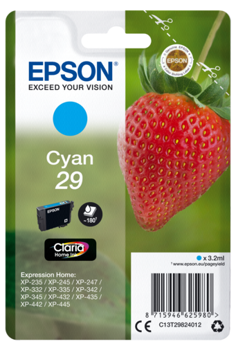 Epson Cartridge T2982 Home Cyan