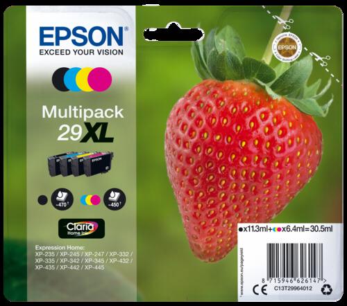 Epson Cartridge T2996 Claria Home Multipack BK/C/M/Y XL