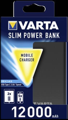 VARTA Portable Slim Power Bank 12000mAh + micro USB cable