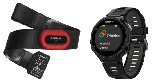 Garmin Forerunner 735XT Run Bundle black/grey