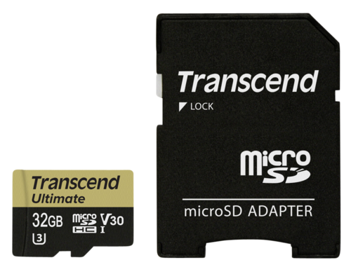Transcend microSDHC 32GB UHS-I MLC U3M + Adapter