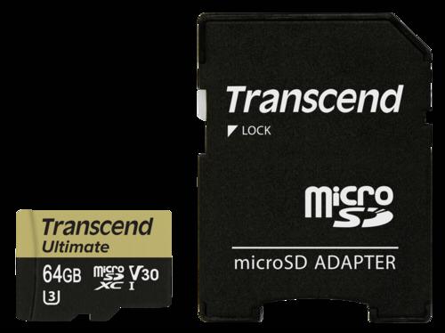 Transcend microSDXC 64GB UHS-I MLC U3M + Adapter
