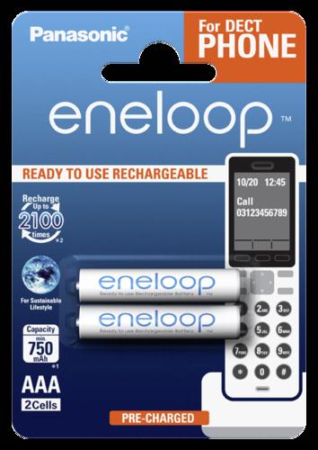 Panasonic Eneloop Micro AAA 750mAh DECT 1x2