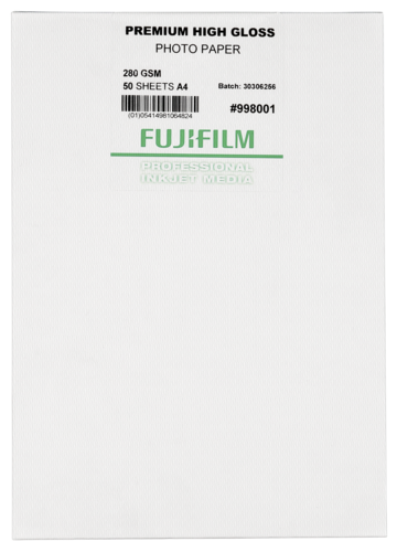 Fujifilm Premium High Gloss Paper A4 280gr (50 sheets)