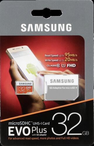 Samsung microSDHC EVO Plus 32GB UHS-I + adapter