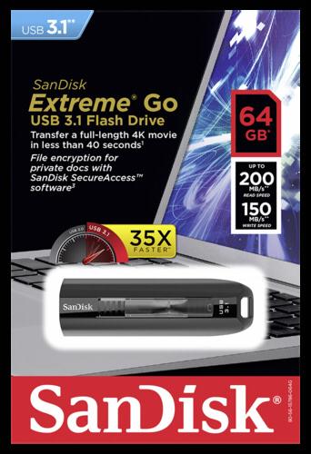 SanDisk Cruzer Extreme GO   64GB
