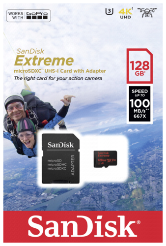Sandisk Extreme MicroSD 128GB Action Cam 100MB/s