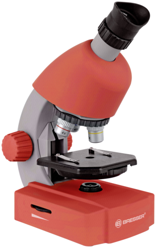 Bresser 40x-640x Microscope Red