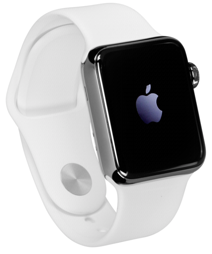 Apple Watch 2 42mm Steel Case with White Sport Band