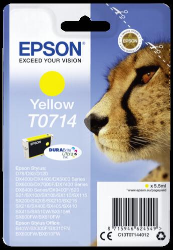 Epson Cartridge T0714 DURABrite Yellow
