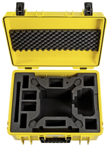 B&W Copter Case Type 6000 Inlay for DJI Phantom 4 Pro Yellow