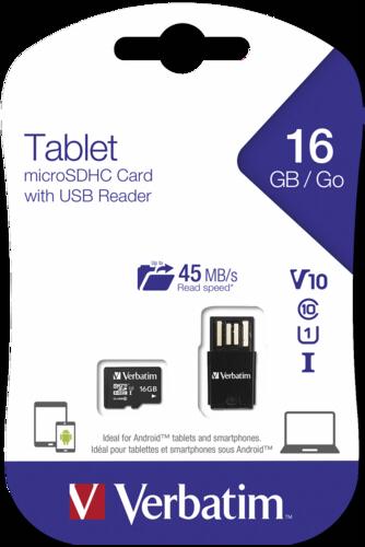 Verbatim microSDHC 16GB UHS-I with USB Card Reader