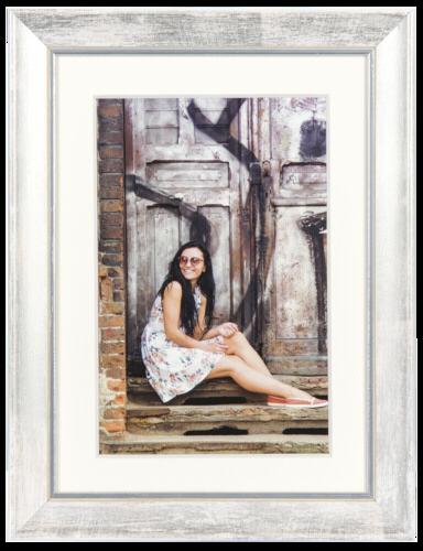 Henzo Aimee Wood 13x18 white