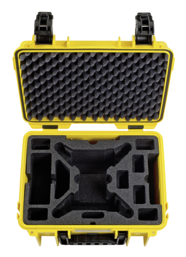B&W Copter Case Type 3000/Y yellow with Yuneec Breeze Inlay