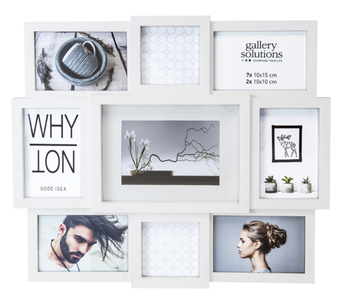 Nielsen Why Not Collage white Plastic Gallery Frame