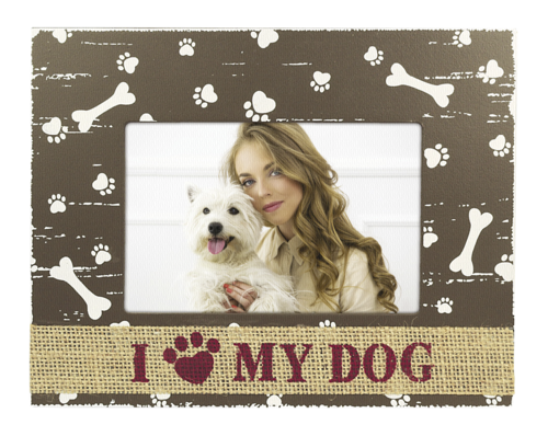 ZEP Dido I love my dog Wood 10x15