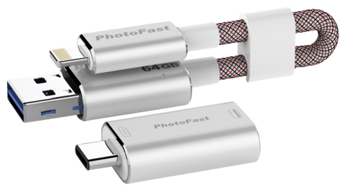 PhotoFast MemoriesCable 64GB Gen3 red Adapter USB A-USB C