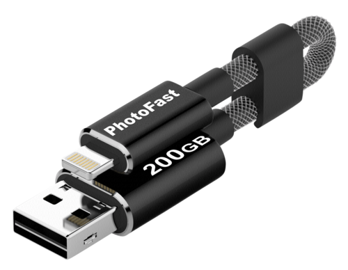 PhotoFast MemoriesCable 200GB Gen3 black