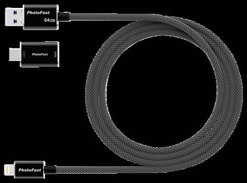 PhotoFast MemoriesCable 1m 64GB Gen3 black Adapter USB A-USB C