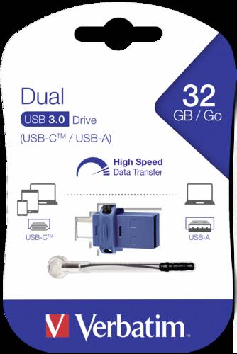 Verbatim Store n Go 32GB Dual Drive USB 3.0-USB C