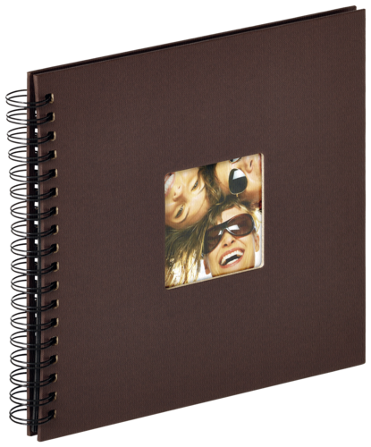 Walther Fun brown Spiral 26x25 - 40 black pages