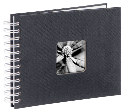 Hama Fine Art Spiral Black 24x17 - 50 white pages
