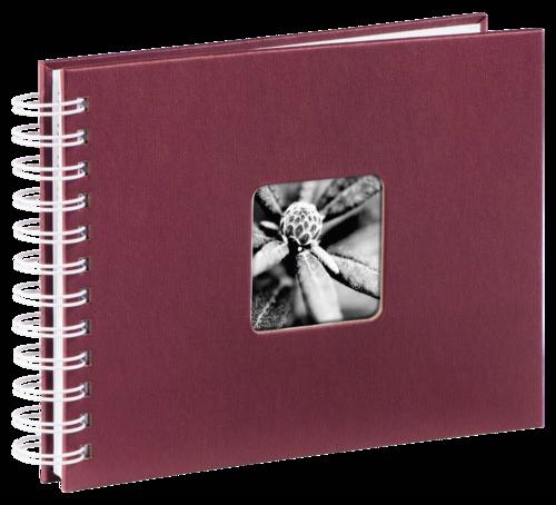 Hama Fine Art Spiral Bordeaux 24x17 - 50 white pages