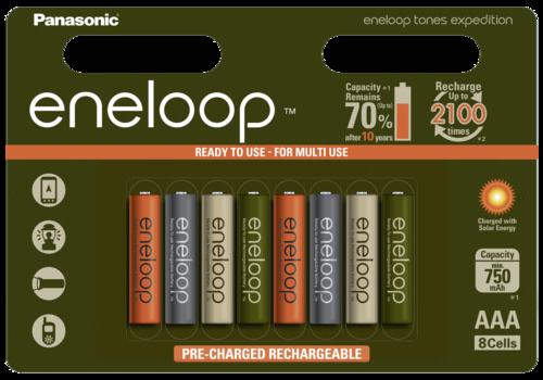 Panasonic Eneloop Micro AAA 750mAh Limited Tones Expedition 1x8
