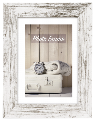 ZEP Nelson 6 white/brown 15X20 Wooden Frame