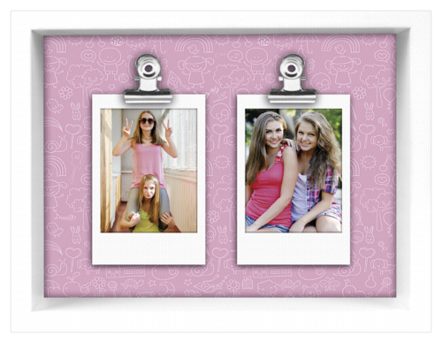 ZEP Funny pink Instax 2x2, 3x8,5 Wooden