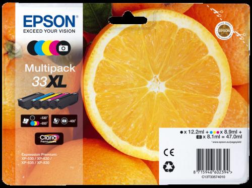 Epson Cartridge T3357 Premium Multipack BK/PBK/C/M/Y XL