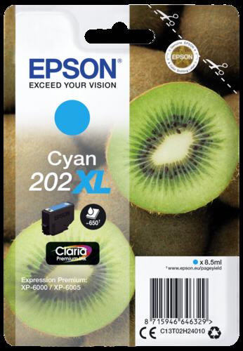 Epson Cartridge T02H2 Claria Premium cyan XL